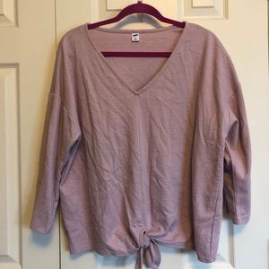 NWOT Old Navy 3/4 sleeve v-neck with tie